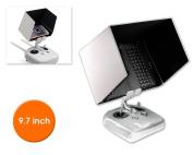Jasper 25cm Tablet FPV Monitor Sunshade Sun Hood for DJI Inspire 1 Inspire 2, Phantom 4 Phantom 3 Pro/Adv Transmitter Remote Controller Quick Release iPad Holder Clip Mount