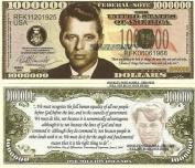 Novelty Dollar Robert Bobby Kennedy Commemorative Dollar Bills X 4