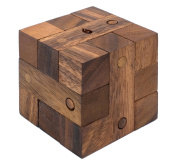 Ancient Key - Handmade Interlocking Wooden Puzzle & 3D Brain Teaser for Adults from SiamMandalay with Free SM Gift Box
