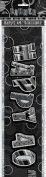2.7m Foil Glitz Black Happy 40th Birthday Banner