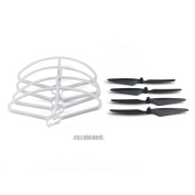 Helicopter Propeller,Clode® Removable Propeller/Finger Guard 4Pcs Blades Propellers + 4Pcs Protection Frames For HUBSAN X4 H501S H501C Drone
