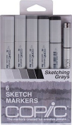 Copic Sketch Set of 6 Markers - Sketching Greys