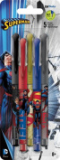 Coloured Gel Pens - DC Comics - Superman - 5pk New Stationery iw1764