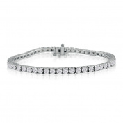 15cm 4.30ct Diamond Tennis Bracelet in 14k White Gold, J/K I1/I2