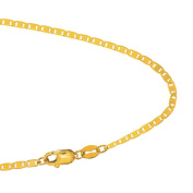 10k Solid Yellow Gold 1.7 mm Mariner Chain Petite Delicate Bracelet - 7""
