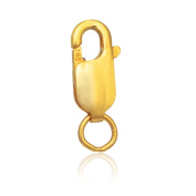 10k Yellow Gold Lobster Lock 12mm Lobster Claw
