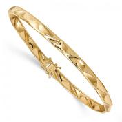 14k Solid Yellow Gold 5mm Polished Twisted Bangle Bracelet
