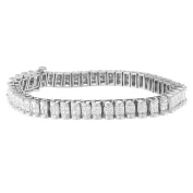 14kt White Gold 3ct. TDW Princess-cut Diamond Ring
