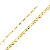 14k Yellow Gold 3.6-mm Cuban Chain Bracelet