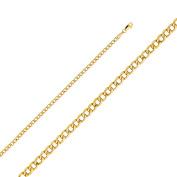 14k Yellow Gold 3.4-mm Hollow Cuban Chain Bracelet