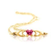 10K Yellow July Birthstone Bracelet
