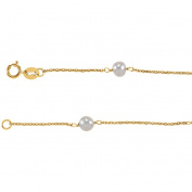 "14K Yellow 4-4.5mm Pearl Youth 6"" Bracelet"