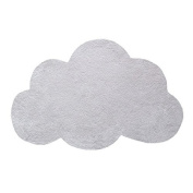 Grey Cloud-Shaped Rug 60 x 90cm