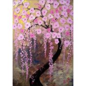 KAYI 5D Diamond Painting Pink Flower Trees Full-drilled Rhinestone Hand Craft Painting Home Decor