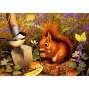 KAYI 5D Diamond Painting Sparrow and Squirrel Full-drilled Rhinestone Hand Craft Painting Home Decor