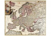 A2 Print - Antique 1696 Map of Europe - Carel Allary