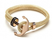 Vice Bracelet Gold Double Mesh / Rose Gold Anchor X-Small 17cm