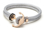 Vice Bracelet Silver Double Mesh / Rose Gold Anchor X-Small 17cm