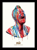 "Robbie Williams ""Paint Head"" Framed Print, Multi-Colour, 30 x 40 cm"