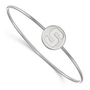Sterling Silver LogoArt Michigan State University Slip on Bangle