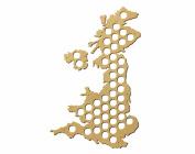 United Kingdom Beer Cap Trap Map , Beer Bottle Cap Collector Wall Art