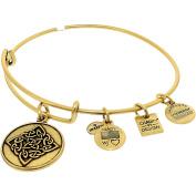 Alex And Ani Women's Celtic Knot Rafaelian Gold Charm Bracelet