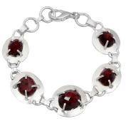 Orchid Jewellery Mfg Inc Orchid Jewellery Silver Overlay 40ct TGW Genuine Ruby Bracelet