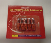 Pack of 5 Push In Spare Fairy Bulbs In Dark Red 7v 0.98w 0.14a