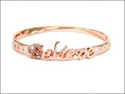 Bracelet-Believe Bangle-Rose Gold