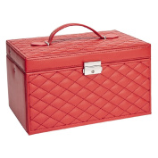 Quilted Red Jewellery Box