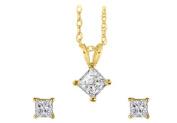 Favourite of Women Natural Diamonds Earrings Pendant Set