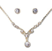Annaleece 7022 Jazzy Pierced Earrings and Necklace Set