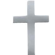 14k White Gold Cross Lapel Pin 9x7mm - .3 Grammes