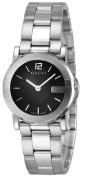Gucci 101G-Series Quartz Silvertone Bracelet Black Dial Women's Watch YA101505