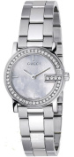 Gucci Quartz, Silver Stainless Steel Band Silver Dial Women's Watch YA101510