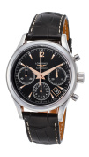 Longines Heritage Chronograph Automatic Steel Mens Strap Watch L2.742.4.56.0