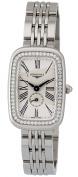 Longines Equestrian Steel & Diamond Womens Watch Silver Dial L6.141.0.71.6