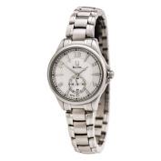 Bulova 96P116 Women's Adventurer White MOP Dial Quartz Steel Bracelet Watch