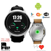 Indigi® 3G Smartwatch & Phone (Factory Unlocked) Android 4.4 KitKat + WiFi + Built-In Camera w/ 32gb microSD Included
