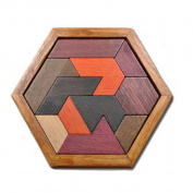 Wooden Jigsaw Puzzle, Teckpeak Brain Teaser Wood Wooden Hexagon Sudoku Puzzle Children Educational Toy