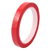 12mm Single Sided Strong Self Adhesive Mylar Tape 50M Length Red