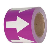 INCOM MANUFACTURING PMA4510 Arrow Tape, Purple/White, 10cm .W, 33m L