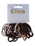 Elina 24 St scrunchies, Brown
