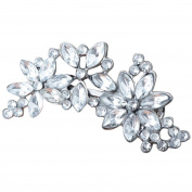 Lilyeyes Women's Bride's Bridesmaid's Rhinestone Flower Crystal Hair Clip Comb Jewellery
