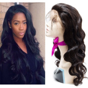VIPbeauty Peruvian Fortal Hair Virgin Human Hair Lace Front Wigs With Baby Hair For Black Women Body Wave Natural Real Hair 360 Lace Frontal Wigs 100% Remy Human Hair-30cm