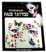 1x - Face Temporary Tattoo 7 `Mask` 14cm - Quality COOLMINIPRIX®