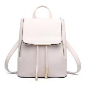 LUOEM Girls Backpack Shoulder Bag PU Leather Backpack for Women Girls Ladies Travel Bag