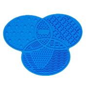 JasmineLi Silicone Makeup Brush Cleaning Mat, Portable Beauty Washing Tool Scrubber with Suction Cup