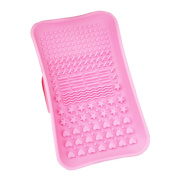 JasmineLi Silicone Makeup Brush Cleaning Mat, Cosmetic Brush Cleaning Mat Portable Washing Tool Scrubber with Suction Cup