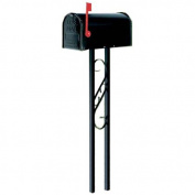 Gibraltar Mailbox To Go, All-in-One, Steel, Black Mailbox and Post